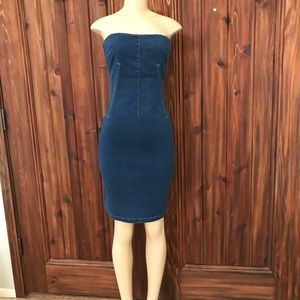 MODA International Denim Chambray Strapless Dress
